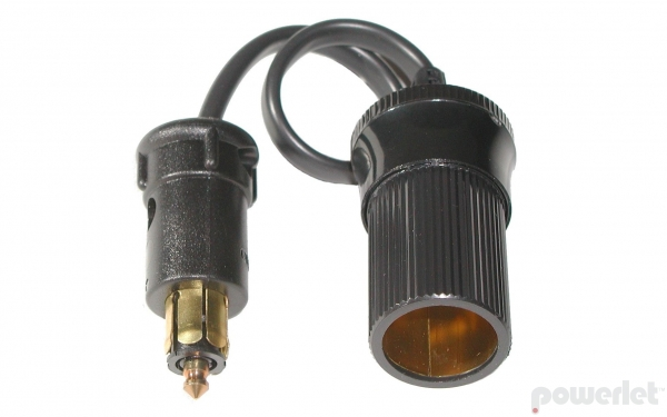 "Powerlet Plug To Cigarette Socket Cable (10"")"
